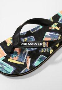 Quiksilver - MOLOKAI VACANCY - Pool slides - black/green/black - 5