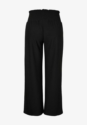 GESMOKTE - Trousers - black