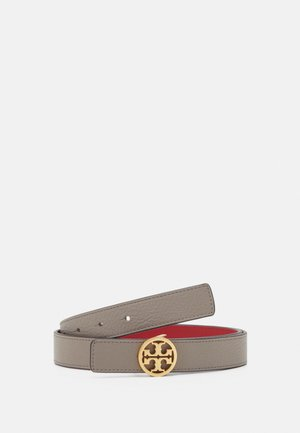 REVERSIBLE LOGO BELT - Pásek - gray heron/red apple