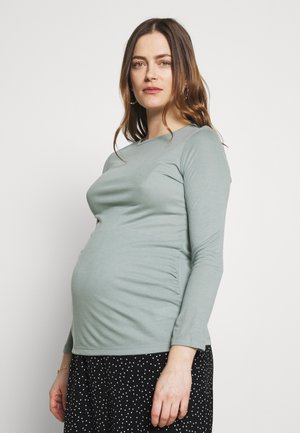 MATERNITY LONG SLEEVE CREW NECK - Langærmede T-shirts - green