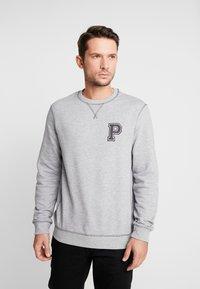 Pier One - Sweatshirt - mottled grey - 0