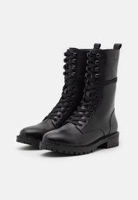 Mexx - DENA - Šněrovací vysoké boty - black - 2