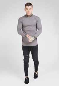 SIKSILK - LONG SLEEVE CHAIN COLLAR CUFF - Maglietta a manica lunga - grey - 4