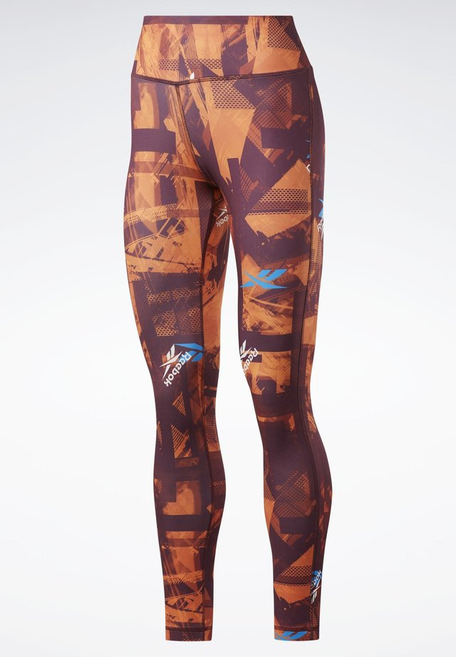 WORKOUT READY MYT PRINTED LEGGINGS - Collants - burgundy