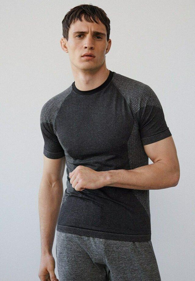 Print T-shirt - gris chiné moyen