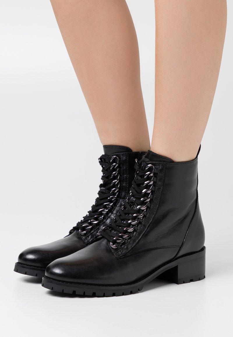 San Marina - SARYA - Lace-up ankle boots - noir