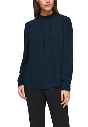 MIT CHIFFON-BLENDE - Long sleeved top - dark petrol