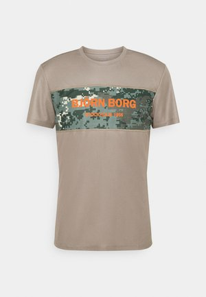 BLOCKED TEE - Camiseta de deporte - brindle