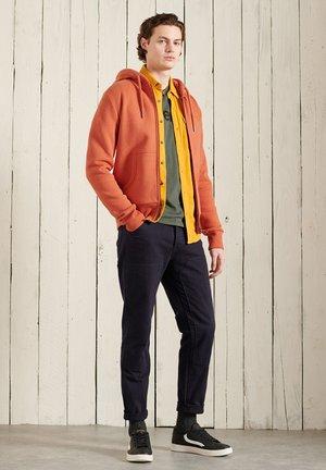 ORANGE LABEL - Zip-up sweatshirt - rust orange marl