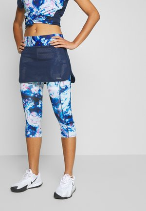 SMASH 3/4 SKORT - 3/4 sports trousers - dark blue/caleido royal
