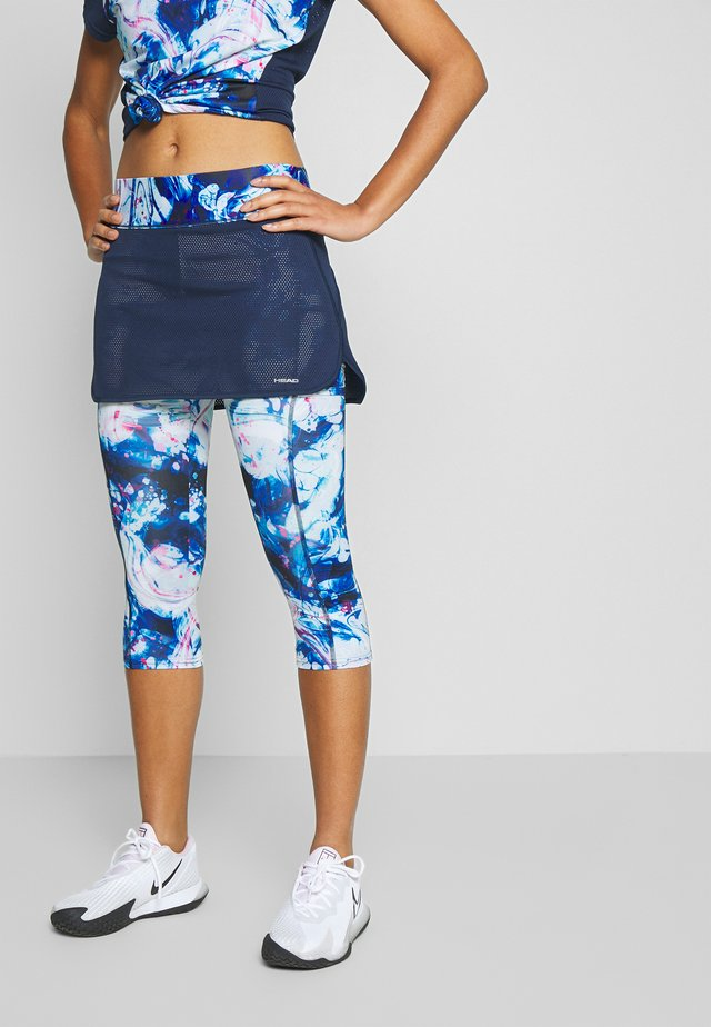 SMASH 3/4 SKORT - 3/4 sportbroek - dark blue/caleido royal