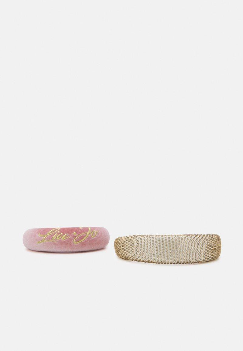 LIU JO - CERCHIETTI 2 PACK - Hair styling accessory - silver/pink