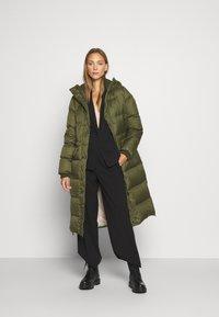 Marc O'Polo - BIG PUFFER COAT FILLED - Down coat - khaki - 0