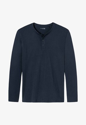 MIT KNOPFLEISTE - Pyjama top - dark blue