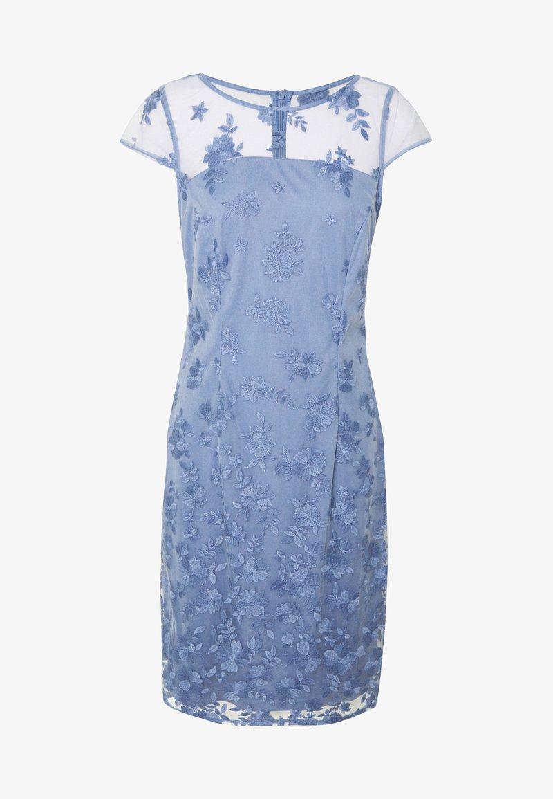 Esprit Collection Degrade Floral Cocktailkleid Festliches Kleid Blue Lavender Hellblau Zalando De