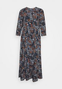 TOM TAILOR DENIM - PRINTED MIDI DRESS - Maxi dress - navy - 0
