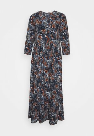 PRINTED MIDI DRESS - Maksimekko - navy