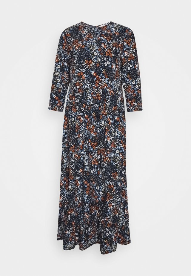 PRINTED MIDI DRESS - Maxi šaty - navy