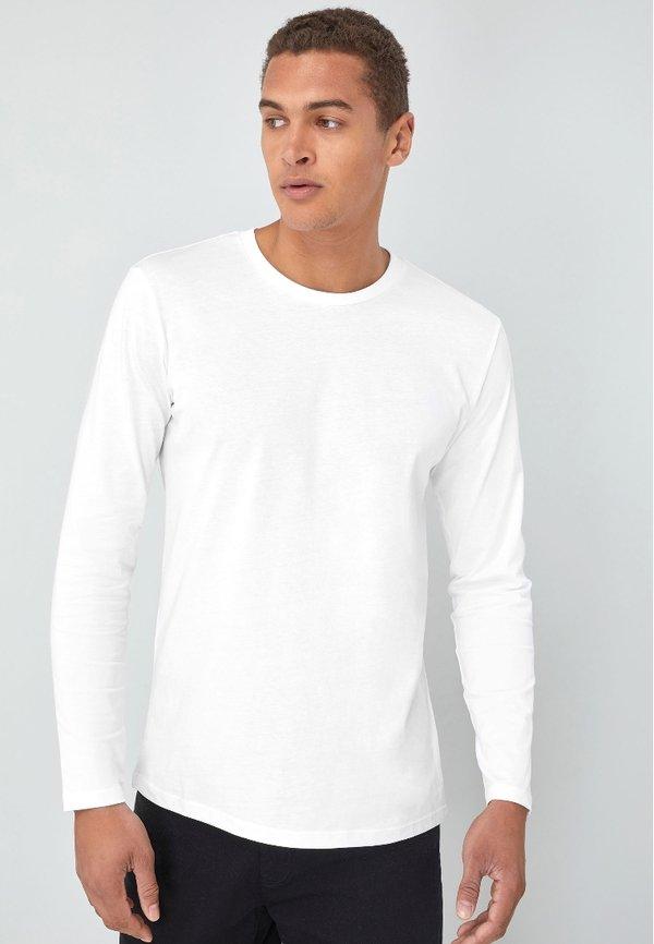 Next Bluzka z długim rękawem - white/biały Odzież Męska SZJU