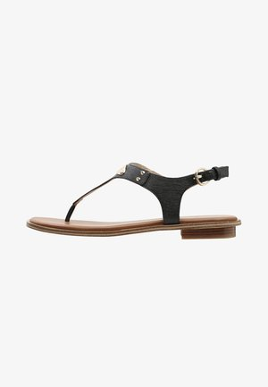 PLATE THONG - T-bar sandals - black