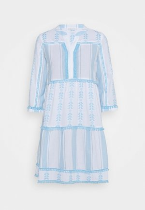 DRESS EMBROIDERED - Robe d'été - capri blue