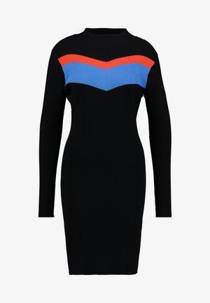 COLORBLOCK DRESS - Shift dress - deep black