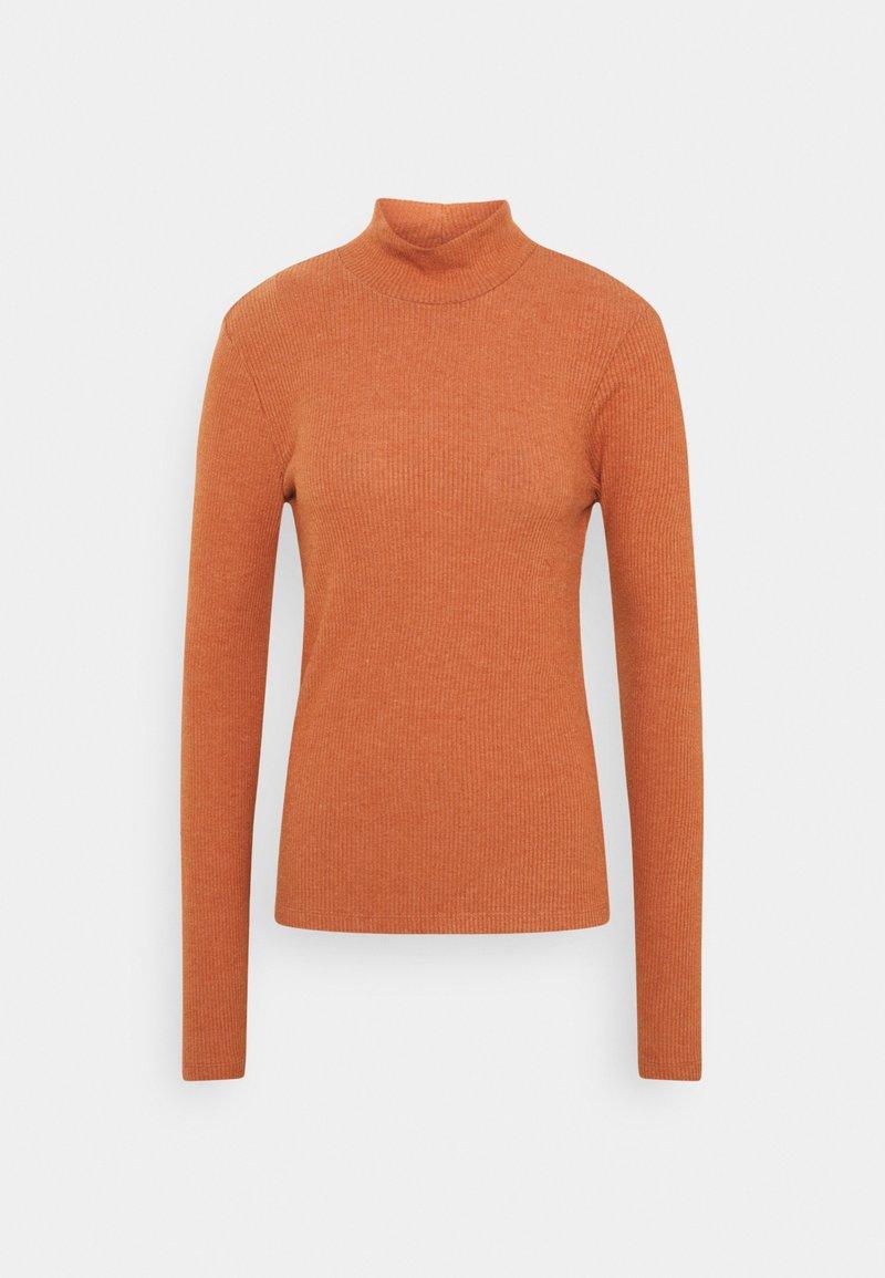 Vero Moda Tall - VMEFFIE HIGHNECK - Long sleeved top - auburn/melange