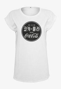 Merchcode - COCA COLA  - Print T-shirt - white - 2