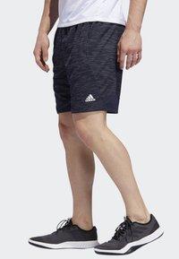 adidas Performance - 4KRFT SPORT STRIPED HEATHER SHORTS - Sports shorts - blue - 2