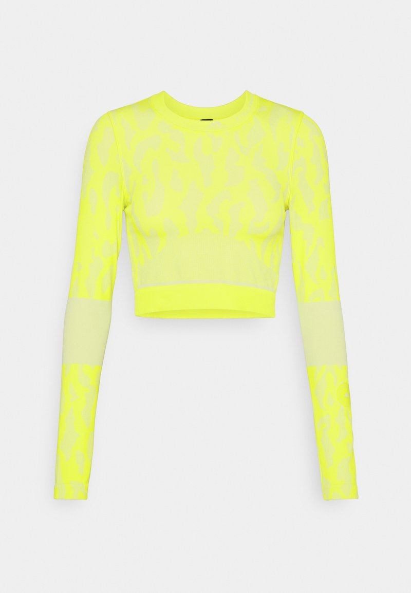 adidas by Stella McCartney - Top sdlouhým rukávem - acid yellow/white