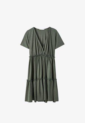 WICKELOPTIK MIT RAFFUNGEN - Day dress - khaki