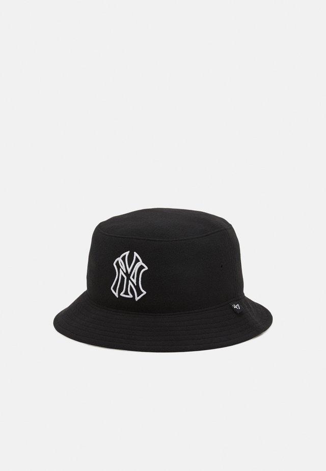 NEW YORK YANKEES BUCKET UNISEX - Klobouk - black
