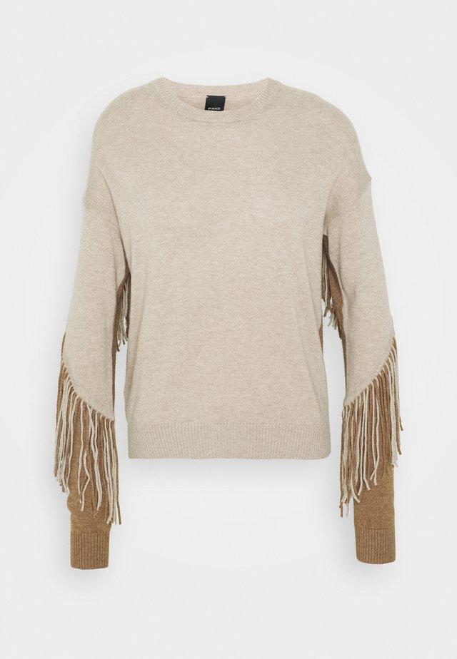 COPERTO  - Pullover - beige/cammello