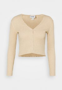 Monki - SILJA CARDIGAN - Cardigan - beige dusty light - 4