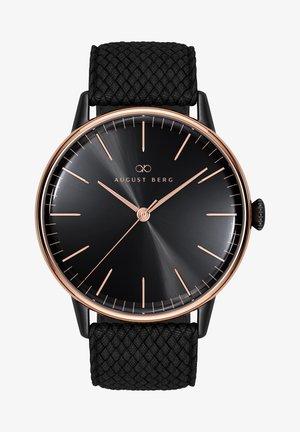 UHR SERENITY NOIR BLACK WITH TOP RING PERLON 40MM - Watch - sunray black