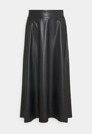 TALOR SKIRT - Jupe trapèze - black