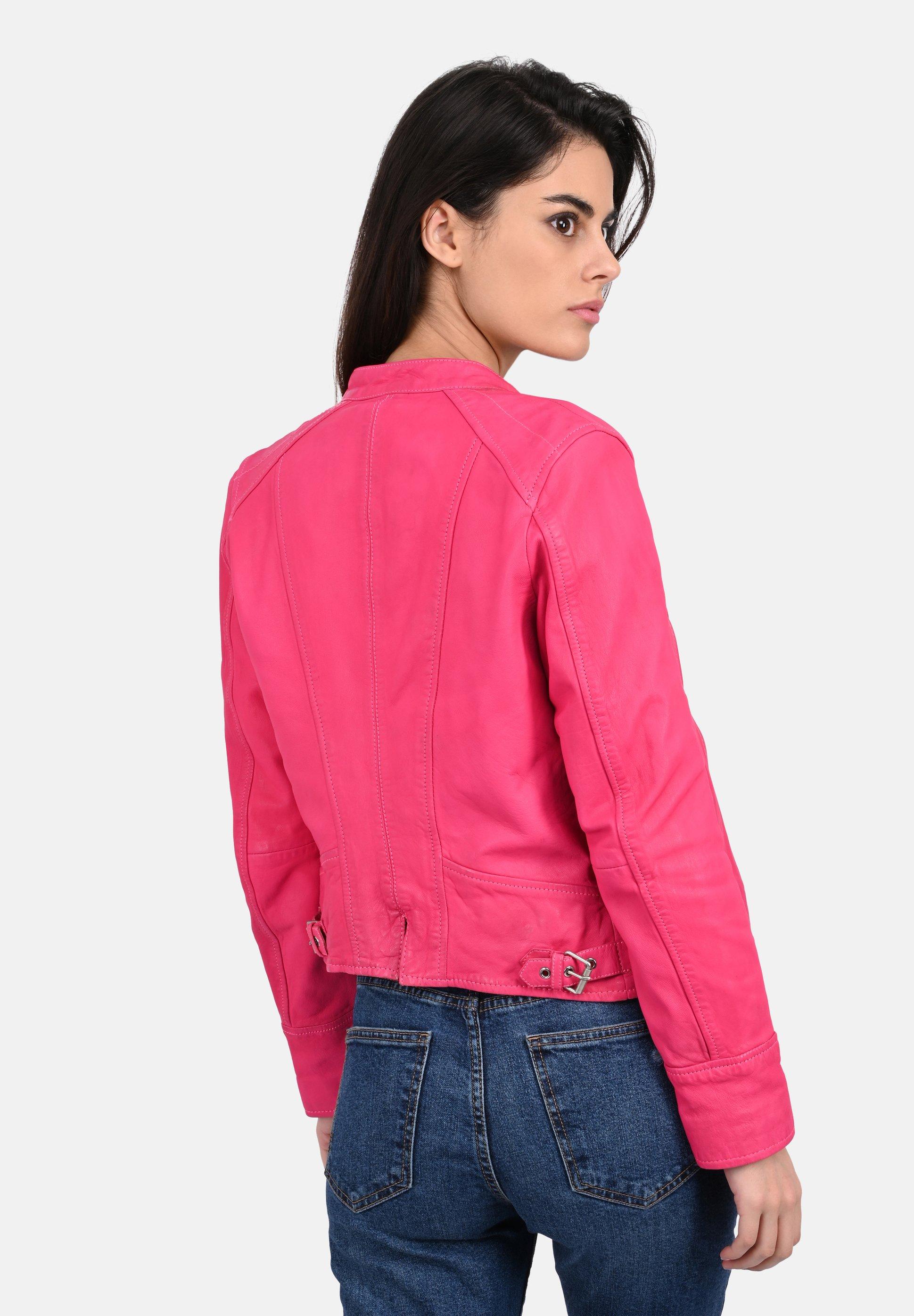 Oakwood EACH Lederjacke fuchsia/pink