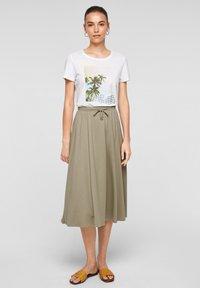 s.Oliver - A-line skirt - summer khaki - 1