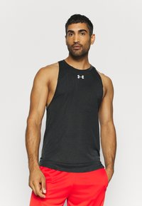 Under Armour - BASELINE PERFORMANCE TANK - Sports shirt - black - 0