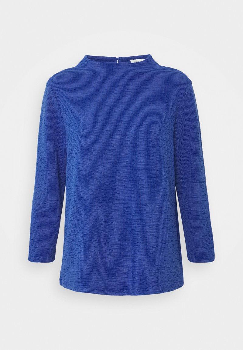 TOM TAILOR - STRUCTURE - Long sleeved top - deep ultramarine blue