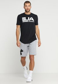 Under Armour - RIVAL LOGO SHORT - Urheilushortsit - steel light heather/black - 1