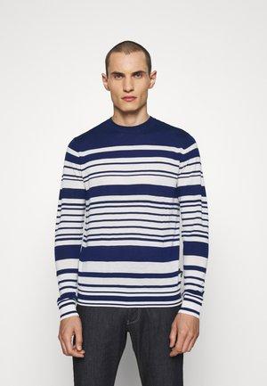 Sweter - dark blue/white
