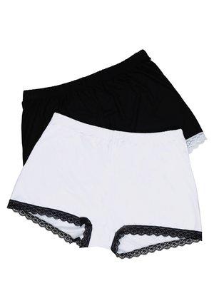 2 PACK - Pants - schwarz/weiß