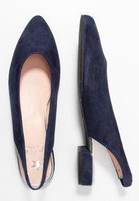Maripé - Slingback ballet pumps - dark blue - 3