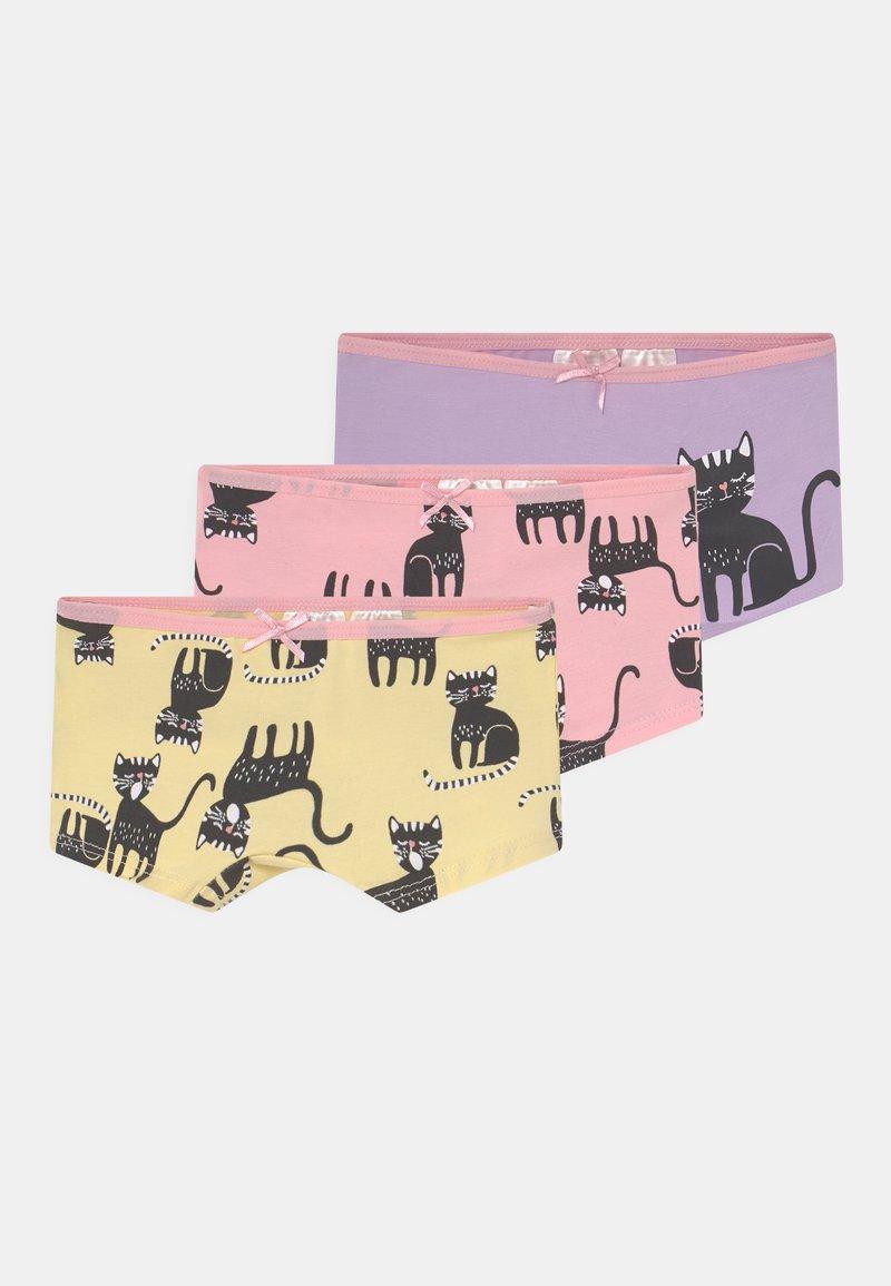 Lindex - MINI KATTER 3 PACK - Boxerky - light pink