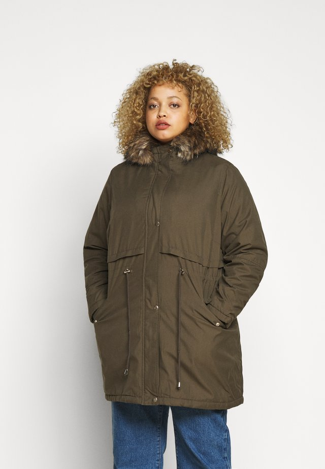 LI HOODED - Parka - khaki