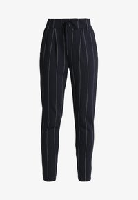 ONLY - ONLPOPTRASH TEMPO STRIPE PANT  - Trousers - night sky/white - 4