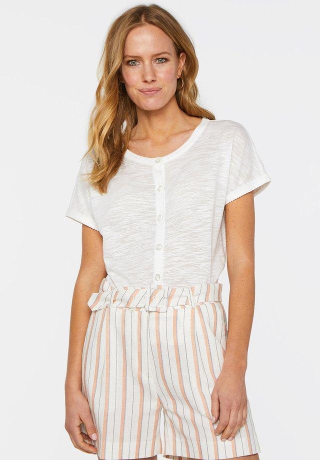 WE FASHION DAMEN-T-SHIRT - T-shirt z nadrukiem - off-white