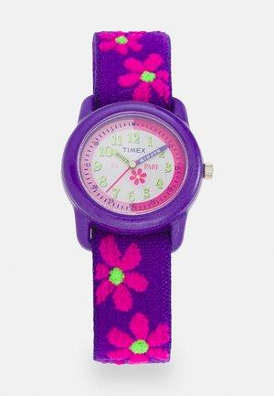 KIDZ TIME TEACHER FLOWERS UNISEX - Hodinky - purple