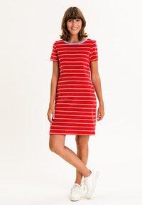 UVR Berlin - ELININA - Jersey dress - rot mit streifen - 0